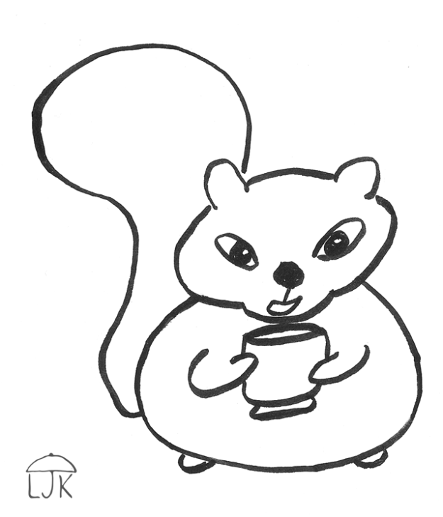 Squirrel With Cup