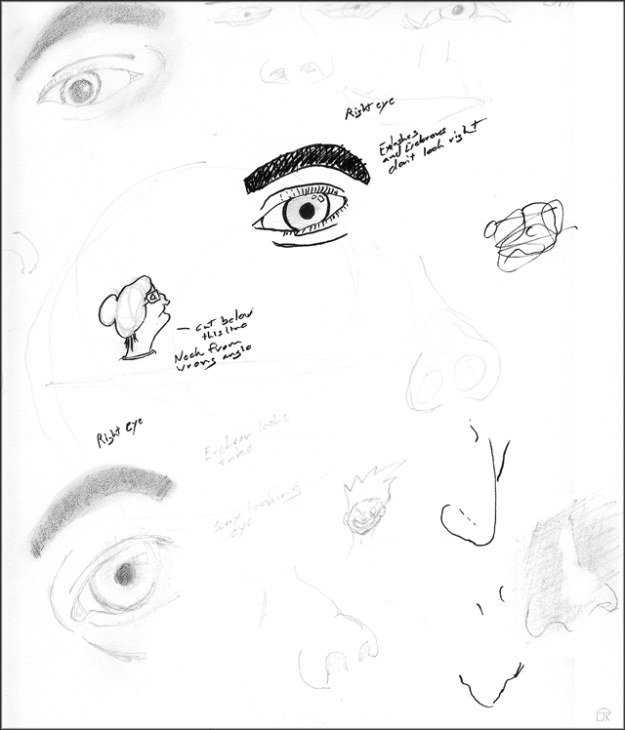 Nose and Eye Sketches