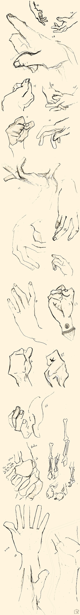 Bridgman Hand Studies
